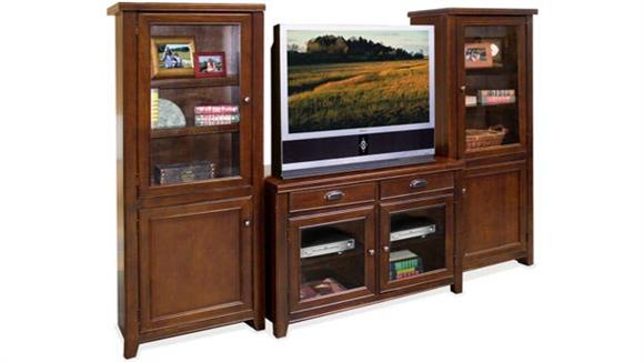 Entertainment Centers Martin Furniture Cherry TV Stand with Storage Piers