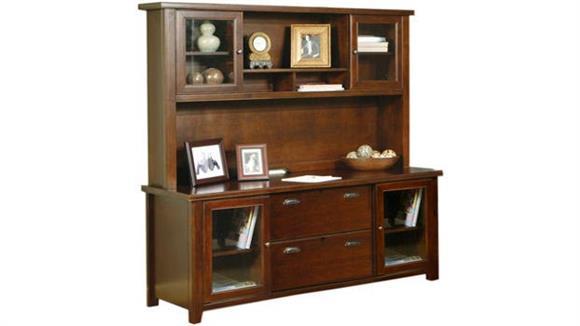 Office Credenzas Martin Furniture Storage Credenza with Hutch