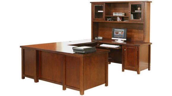 U Shaped Desks Martin Furniture U Shaped Desk with Hutch