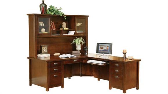 L Shaped Desks Martin Furniture L Shaped Desk with Hutch