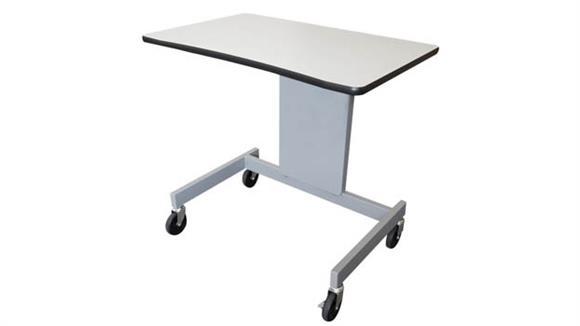 """Adjustable Height Desks & Tables Marvel Office Furniture 32""""W Ergonomic Adjustable Height Mobile Workstation"""