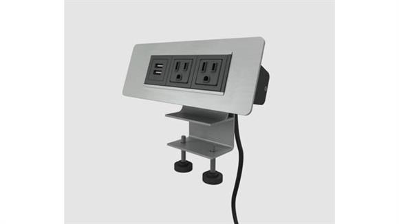 Desk Parts & Accessories Marvel Office Furniture Clamp on Electrical Only - Two Power Outlets/Two USB Ports