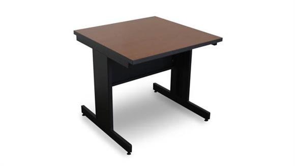 Computer Tables Marvel Office Furniture Marvel Vizion Rectangular Laminate Top Side Table with Modesty Panel - (Cherry Laminate)