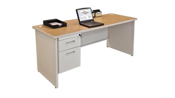 """Steel & Metal Desks Marvel Office Furniture 60"""" x 24"""" Single Pedestal Steel Credenza"""