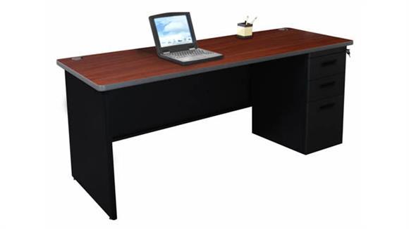 "Office Credenzas Marvel Office Furniture Single Full Pedestal Credenza, 72""W x 24""D"