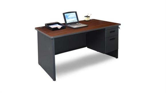 "Steel & Metal Desks Marvel Office Furniture 48"" x 30"" Single Pedestal Steel Desk"