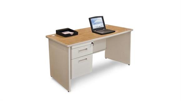"Steel & Metal Desks Marvel Office Furniture 48"" x 30"" Single Pedestal Steel Desk"