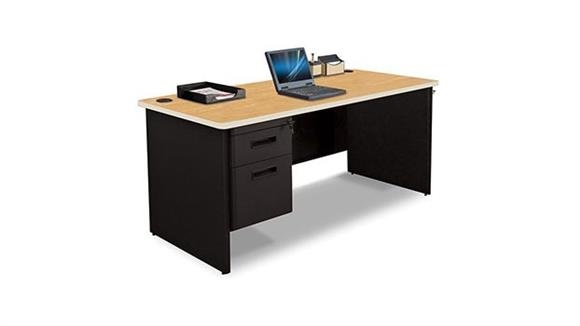 "Steel & Metal Desks Marvel Office Furniture 66"" x 30"" Single Pedestal Steel Desk"