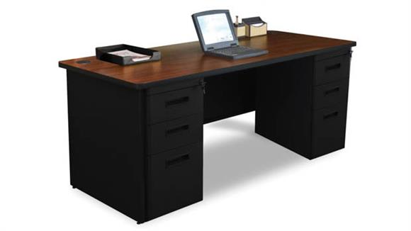 "Computer Desks Marvel Office Furniture Double Full Pedestal Desk, 72""W x 36""D"