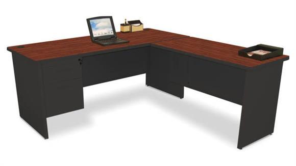"""L Shaped Desks Marvel Office Furniture L Shaped Desk with Return, 72""""W x 78""""D"""