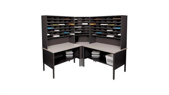 Mail Sorters Marvel Office Furniture 84 Slot Corner Literature Organizer