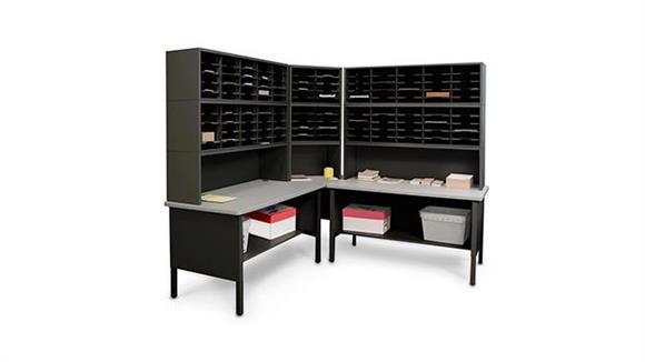 Mail Sorters Marvel Office Furniture 120 Adjustable Slot Corner Literature Organizer