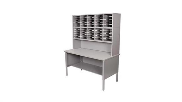 Mail Sorters Marvel Office Furniture 50 Adjustable Slot Literature Organizer with Riser