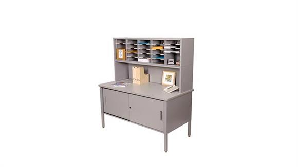 Mail Sorters Marvel Office Furniture 25 Adjustable Slot Literature Organizer with Riser and Cabinet