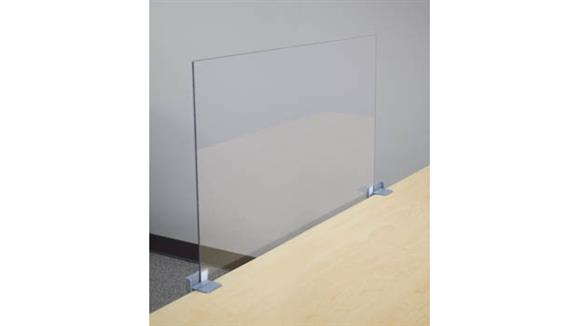 "Covid19 Office Sneeze Guards Marvel Office Furniture 42"" X 24"" Antimicrobial PPE Shield"
