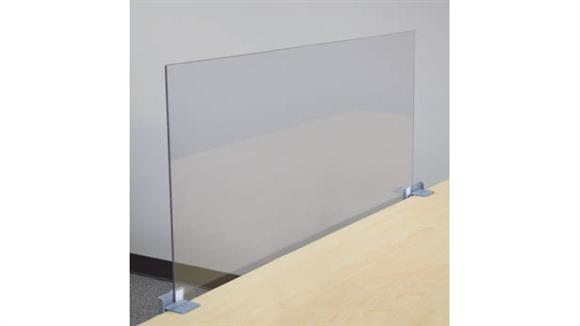"Covid19 Office Sneeze Guards Marvel Office Furniture 48"" X 24"" Antimicrobial PPE Shield"