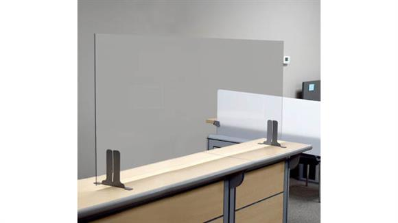 """Covid19 Office Sneeze Guards Marvel Office Furniture 60""""W x 24""""H Antimicrobial Sneeze Guard"""