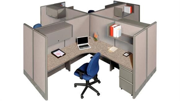 Workstations & Cubicles Marvel Office Furniture Four Person Workstation