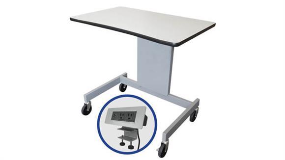 """Adjustable Height Desks & Tables Marvel 32""""W Ergonomic Adjustable Height Mobile Workstation"""