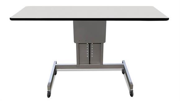 "Adjustable Height Desks & Tables Marvel 48""W Ergonomic Assembly Work Bench / Table"