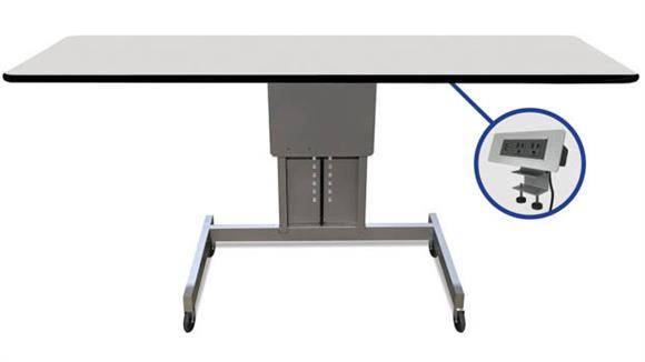 "Adjustable Height Desks & Tables Marvel 60""W Ergonomic Assembly Work Bench / Table"