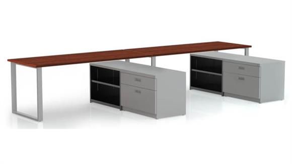 "Computer Desks Marvel 2 - 72"" X 30"" Desk with Bookcase and Lateral Pedestal"