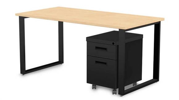 "Computer Desks Marvel 60"" X 30"" Desk and Mobile Pedestal"