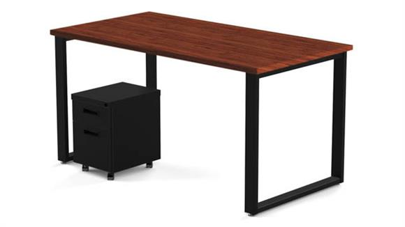 "Computer Desks Marvel 48"" x 24"" Desk and Mobile Pedestal"