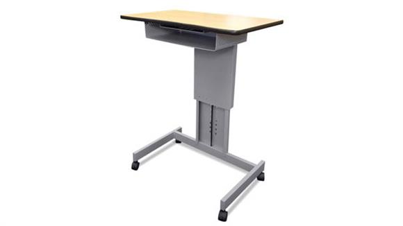 Adjustable Height Desks & Tables Marvel Mobile Focus XT Adjustable Height Desk with Book Box