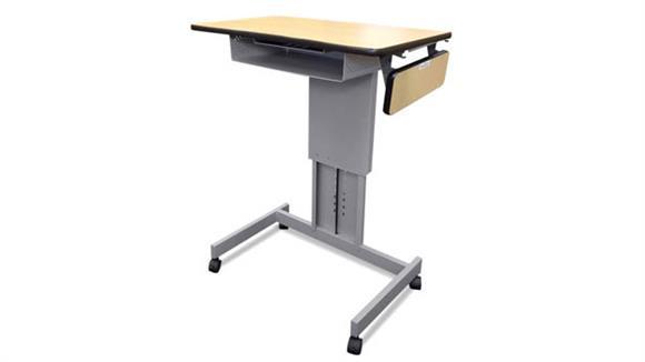Adjustable Height Desks & Tables Marvel Mobile Focus XT Adjustable Height Desk with Book Box & Side Shelf