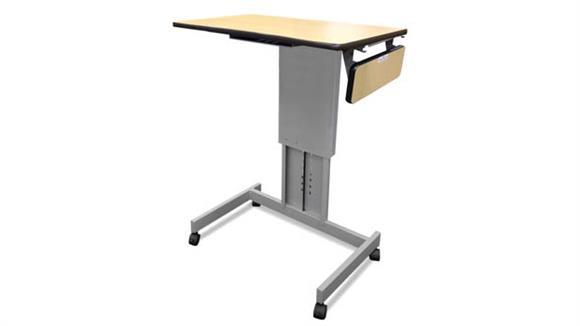 Adjustable Height Desks & Tables Marvel Mobile Focus XT Adjustable Height Desk with Side Shelf