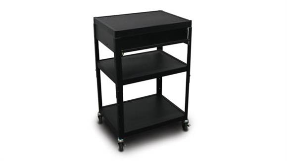 AV Carts Marvel MV2642 Cart with 1 Pull-Out Front-Shelf and Electrical