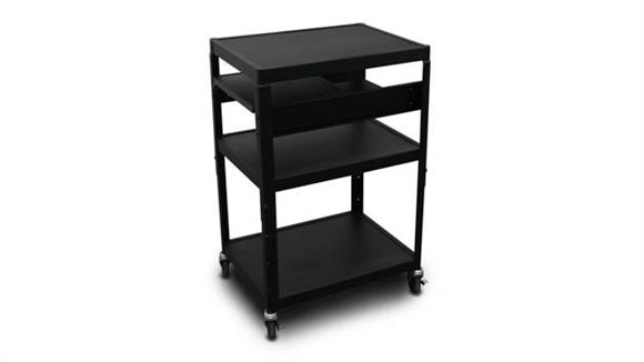 AV Carts Marvel MV2642 Cart with 2 Pull-Out Side-Shelves and Electrical