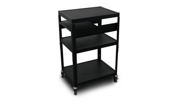 AV Carts Marvel MV2642 Cart with 1 Pull-Out Side-Shelf and Electrical