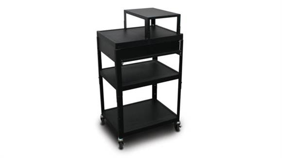 AV Carts Marvel MV2642 Cart with 1 Pull-Out Front-Shelf, Expansion Shelf, and Electrical