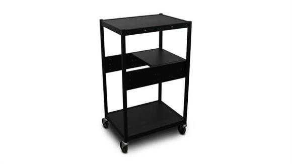 AV Carts Marvel Cart with 1 Pull-Out Side-Shelf and Electrical