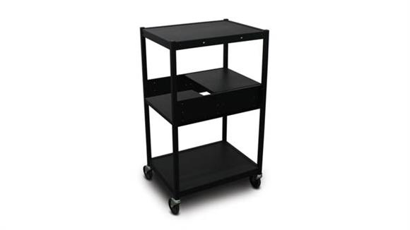 AV Carts Marvel Cart with 2 Pull-Out Side-Shelves and Electrical