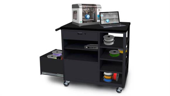 Printer Tables Marvel Steel 3D Printer Cart with One Storage Drawer