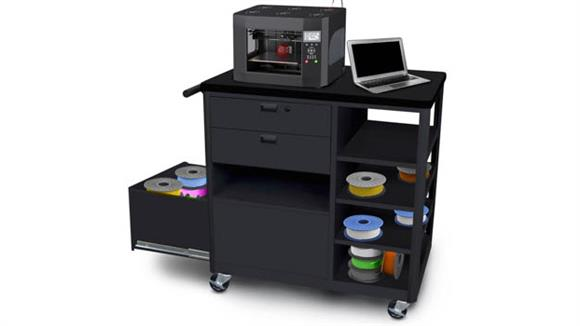 Printer Tables Marvel Steel 3D Printer Cart with Two Storage Drawers