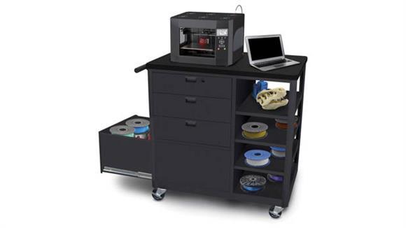 Printer Tables Marvel Steel 3D Printer Cart with Three Storage Drawers