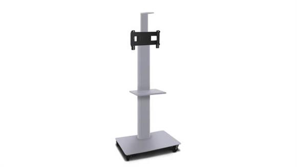 """AV Carts Marvel TV/Monitor Stand and Mount with Equipment Shelf, Camera Shelf, and Hand-held Microphone (holds 26"""" - 32"""" TV)"""