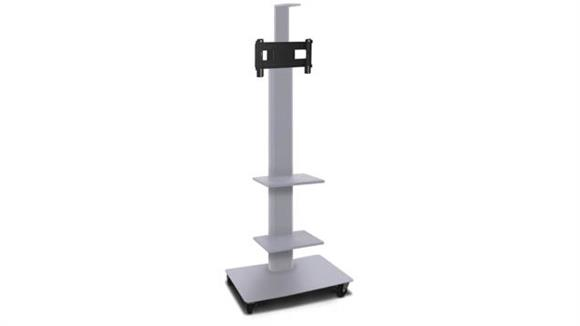 """AV Carts Marvel TV/Monitor Stand and Mount with Two Equipment Shelves, Camera Shelf, and AmpliVox Headset Microphone (holds 26"""" - 32"""" TV)"""