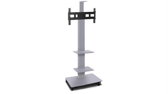 """AV Carts Marvel TV/Monitor Stand and Mount with Two Equipment Shelves and Camera Shelf (holds 35"""" - 55"""" TV)"""