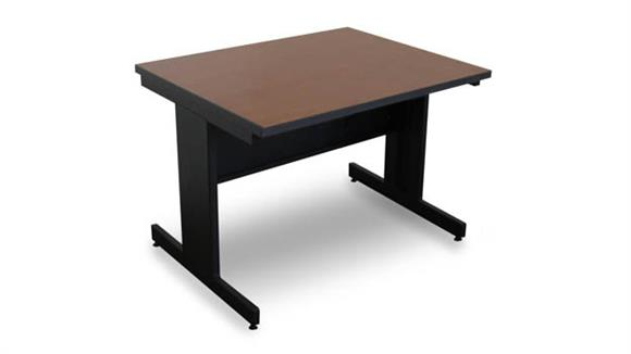 Computer Tables Marvel Marvel Vizion Rectangular Laminate Top Side Table with Modesty Panel - (Cherry Laminate)