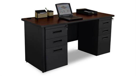 "Office Credenzas Marvel Double Full Pedestal Credenza, 60""W x 24""D"