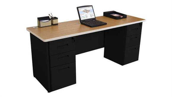 "Office Credenzas Marvel Double Full Pedestal Credenza, 72""W x 24""D"