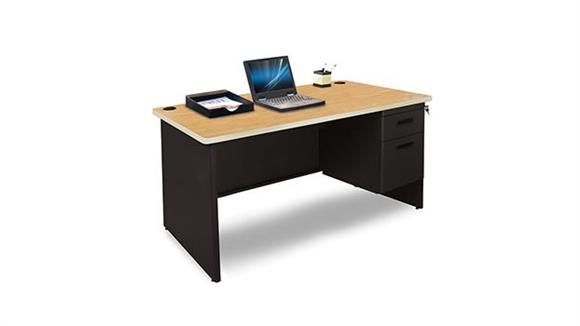 "Steel & Metal Desks Marvel 48"" x 30"" Single Pedestal Steel Desk"