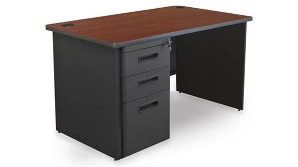 "Computer Desks Marvel Single Full Pedestal Desk, 48""W x 30""D"