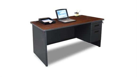 "Steel & Metal Desks Marvel 60"" x 30"" Single Pedestal Steel Desk"