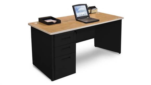 "Computer Desks Marvel Single Full Pedestal Desk, 60""W x 30""D"
